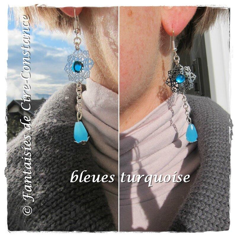 BO Mont-Blanc bleues turquoises