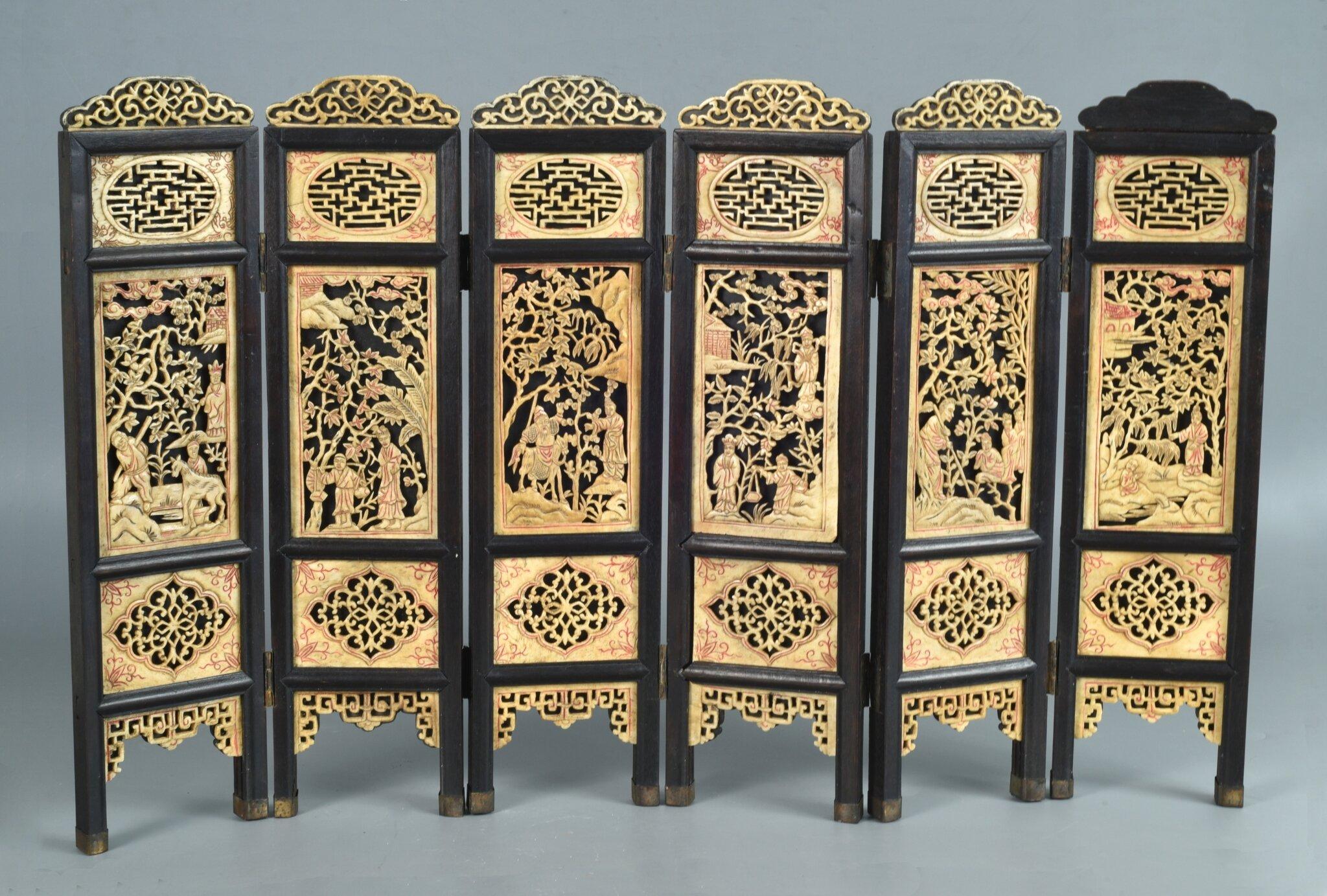 Ecran de lettré (ou de table) , Vietnam , dynastie des Nguyên, première moitié du XIXe siècle