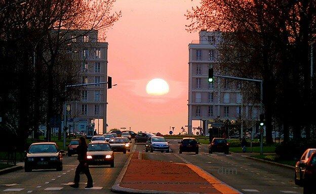 Le soleil se couche l 39 ouest le havre en images - Le soleil se couche a l ouest ...
