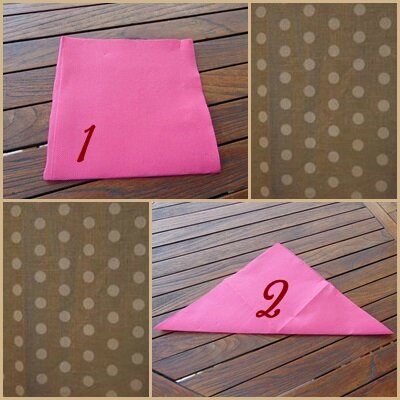 Tuto de pliage de serviette en forme de rose les for Pliage de serviette en forme de rose