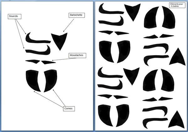 122_Masques_Diable_Planches modèles à découper