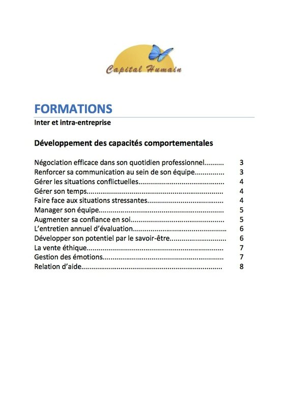 FORMATIONS CATALOGUE 2017