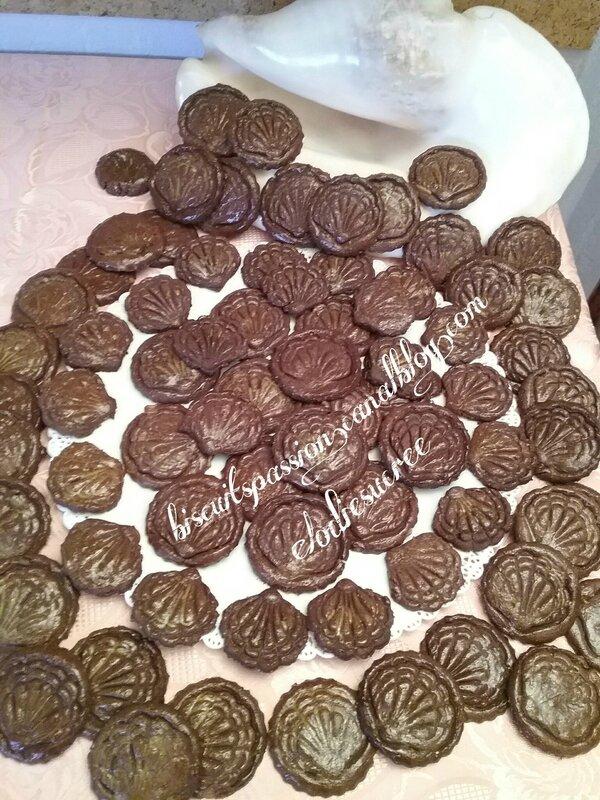 Biscuits chocolat oranges confites