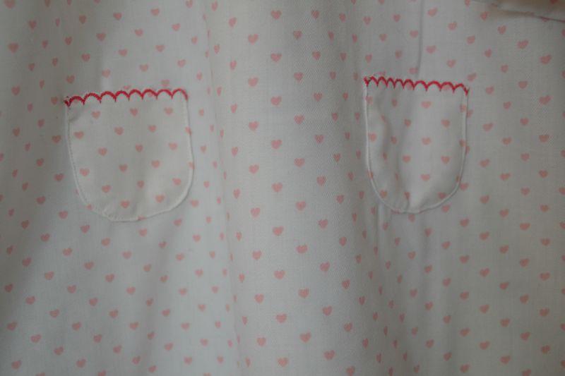 chemise de nuit pilou coeur poches