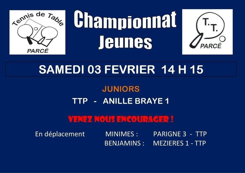 Affiche Championnat Jeunes J 4