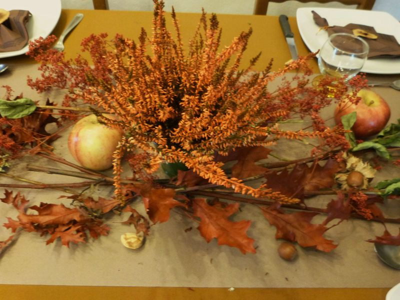 Table d 39 automne rouille tables et d co d 39 estelle - Deco de table automne ...