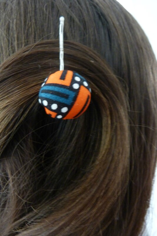 barrette boule orange