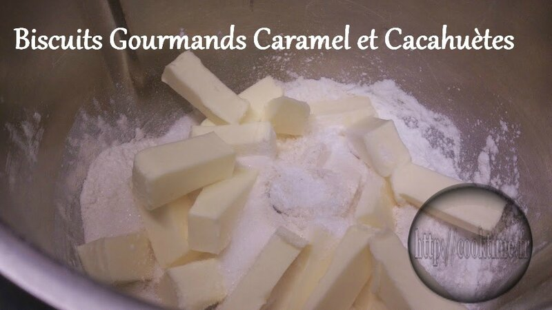Biscuits Gourmands Caramel et cacahuètes au Thermomix 1