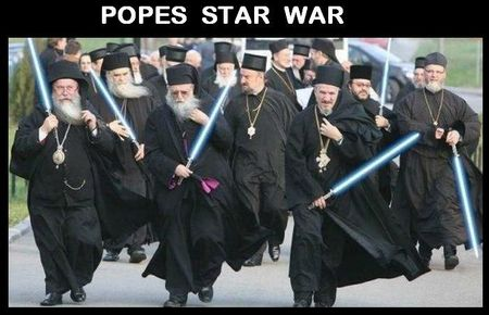 pope star war
