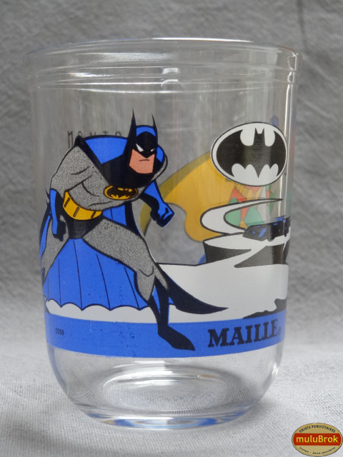 verre moutarde batman et robin 1995 mulubrok brocante en ligne. Black Bedroom Furniture Sets. Home Design Ideas