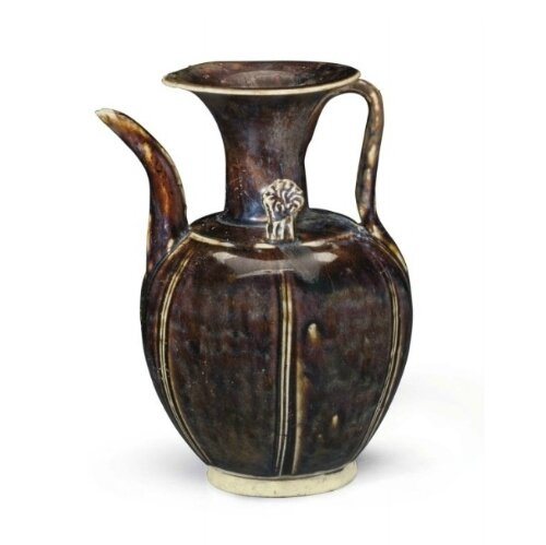 A Northern brown-glazed lobed ewer, China, Five Dynasties period-Northern Song dynasty, 10th-11th century