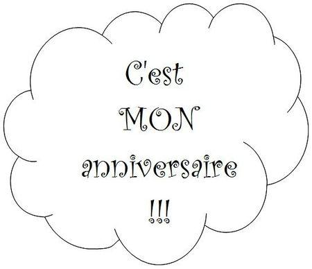 C'est MON anniversaire!!!