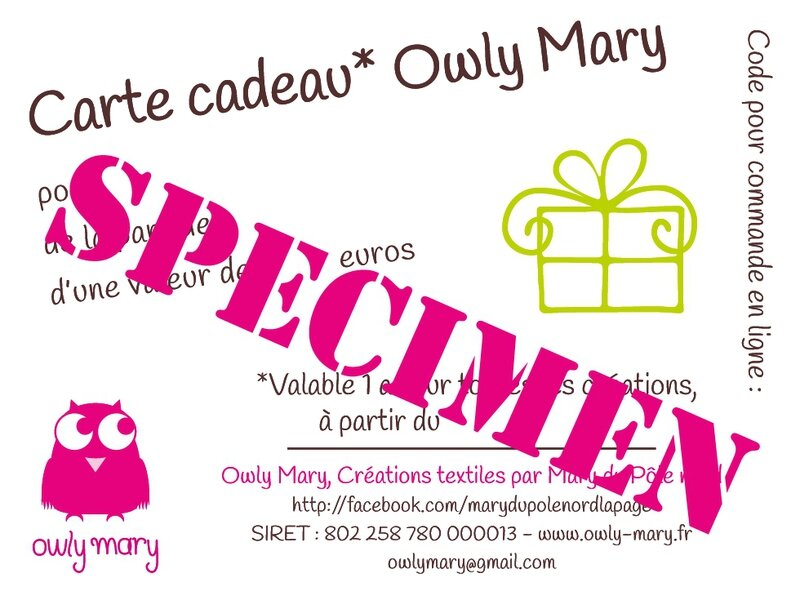 carte cadeau owly mary du pole nord 2014