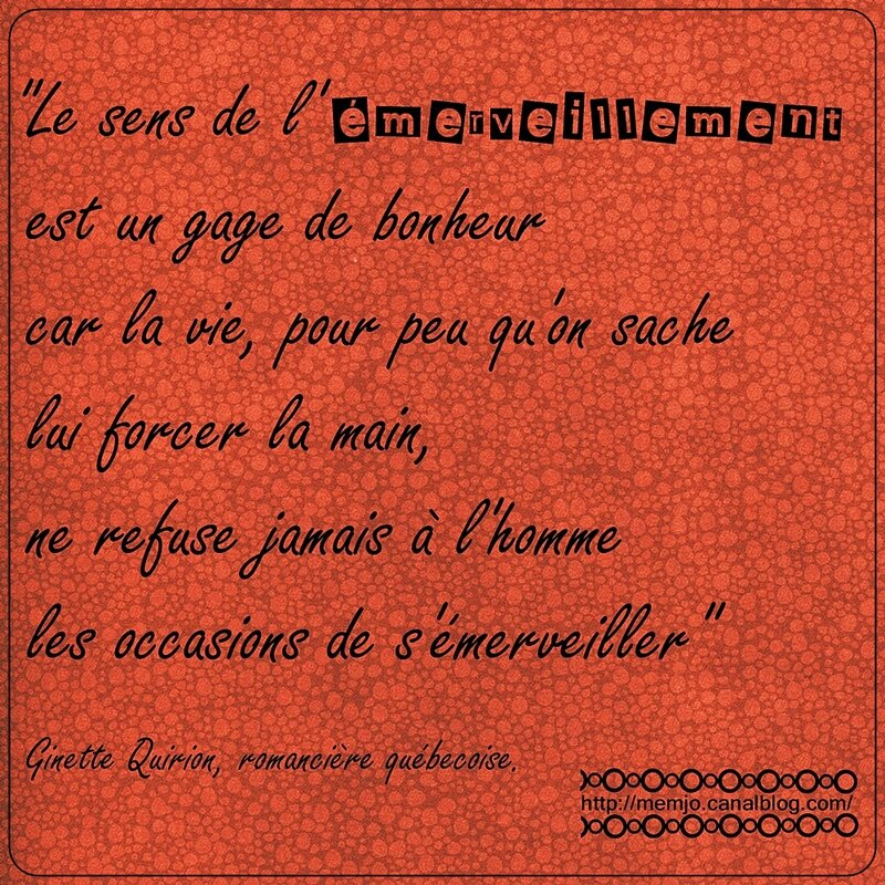 Citation Quirion Emerveillement