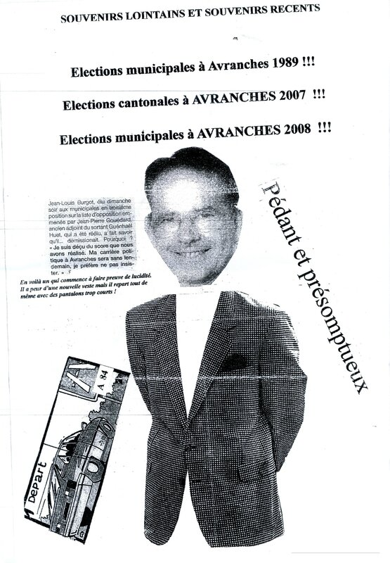 tract anti Jean-Pierre Gouédard municipales Avranches 2008