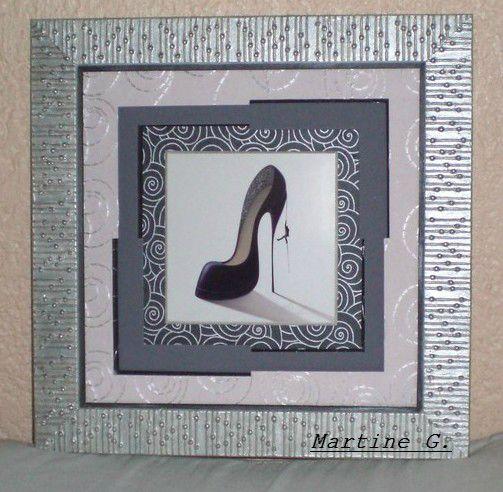 encadrement noir et blanc 2 cr ation martine g. Black Bedroom Furniture Sets. Home Design Ideas
