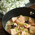 Blanquette de saumon a la vanille & a l'anis etoile