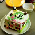 Gateau en pate à sucre : bon anniversaire pomme!!