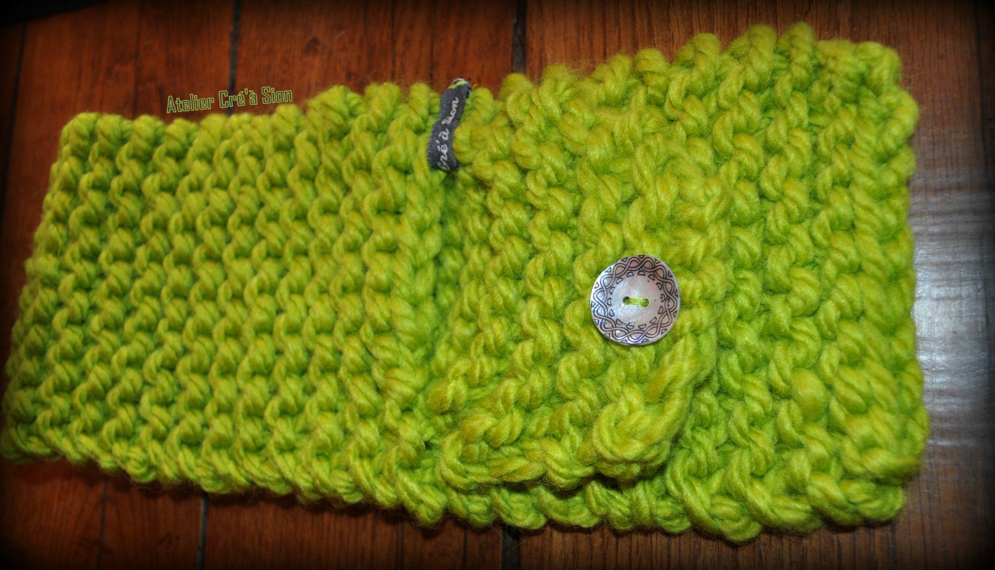 Echarpe enfant grosse laine point mousse atelier cr 39 for L univers de la laine