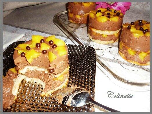 dacquoise sans gluten chocolat et mangue 03
