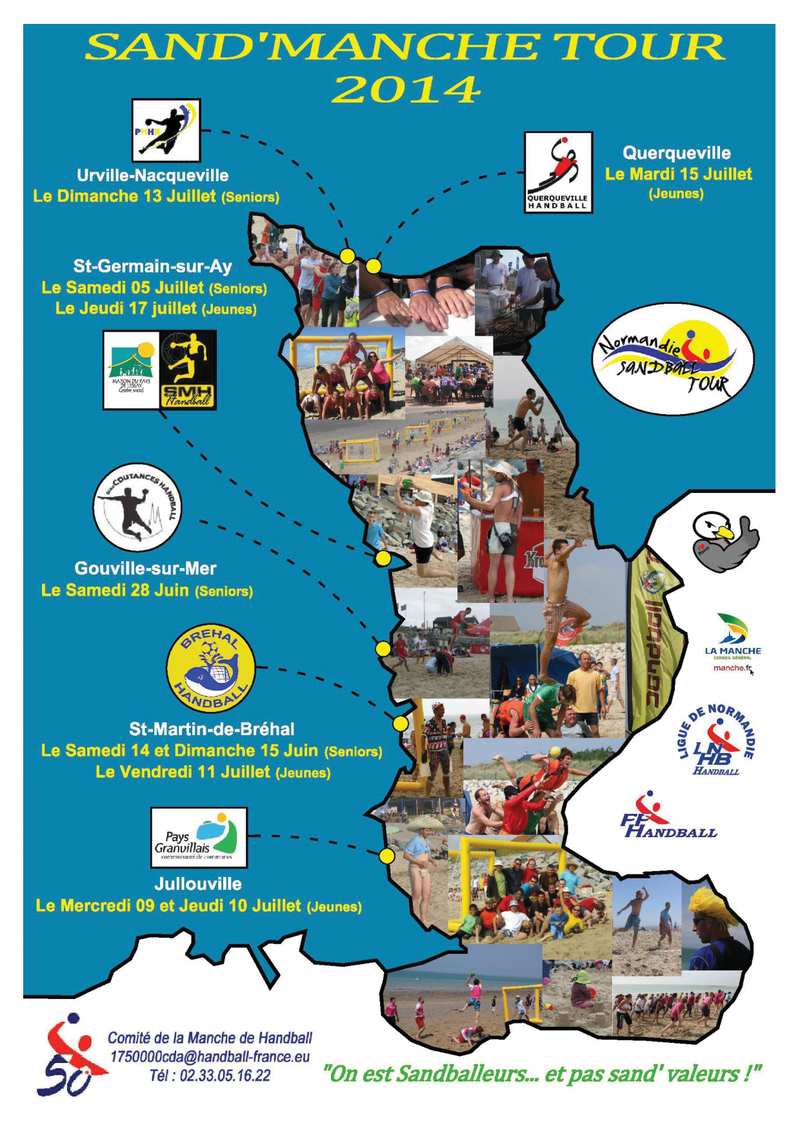 Affiche sandball tour 2014