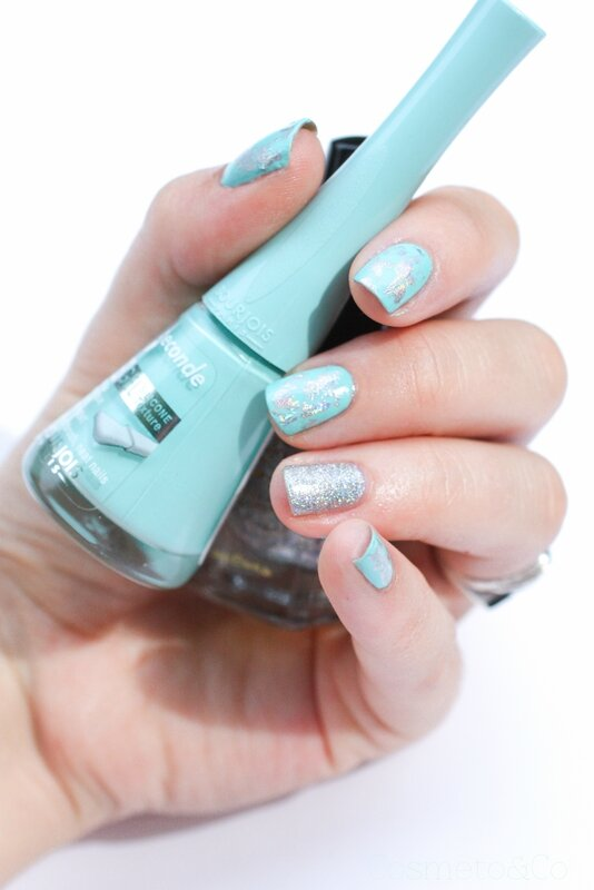 nail art foil holo 24k Diamond H fun lacquer Bourjois Blue Lagoon