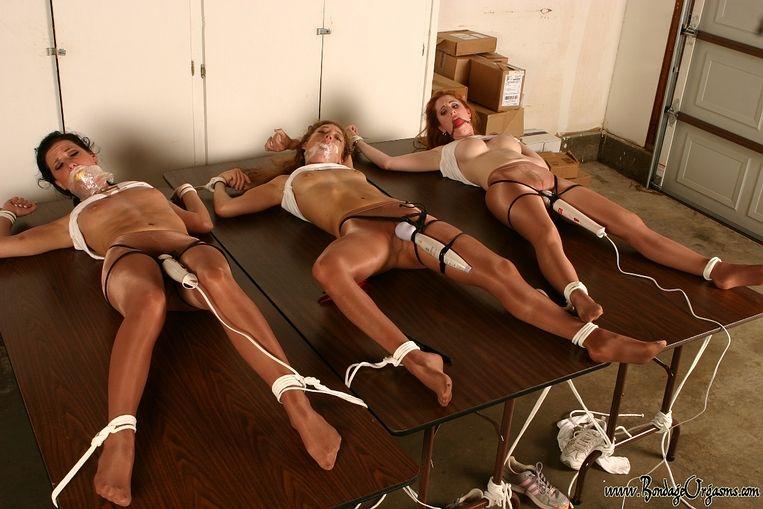 Pantyhose bondage orgasm