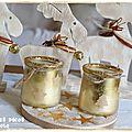 Dessous de plat en plâtre avec incrustations