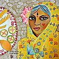 Grand-mère indienne aux mangues et goyaves