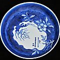 Tea-saucer with finger citron. china for vietnam, nguyên lords period