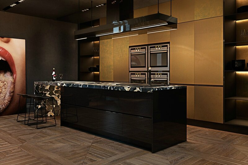 Visceral-kitchen-mouth-and-tongue-feature-art-marbled-kitchen-top