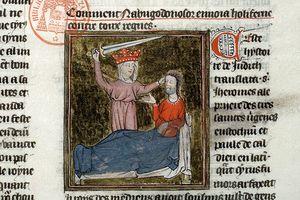 Enluminure Judith ca 1440 Bible historiale-trad Petrus Comestor- Mazarine ms0312 f 151