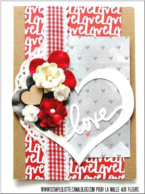 "Carte ""Love"" : illustration challenge carterie de février par Lolotte"