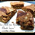 Cookies sticks aux noix et chunks maison à la pâte à tartiner