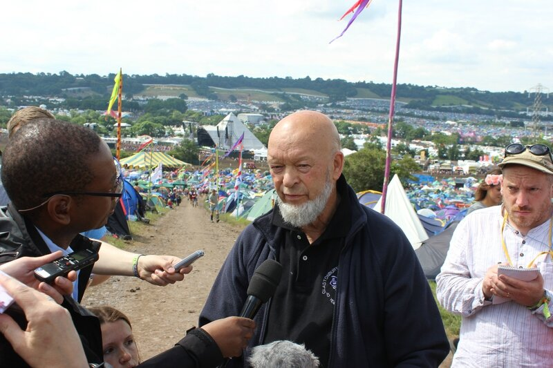 Glastonbury festival 2014 Michael Eavis press meeting