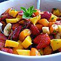 Salade de fruits d'été à la vanille