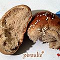 Hallah (pain brioché) à la farine semi-complète