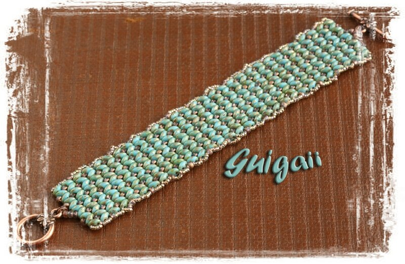 n° 252 Bracelet Dramatic cuff turquoise picasso