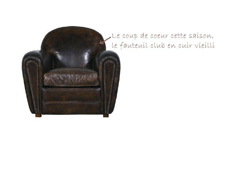 le fauteuil club en cuir vieilli dayco le blog. Black Bedroom Furniture Sets. Home Design Ideas