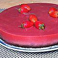 Cheesecake vegan aux fraises et au chocolat