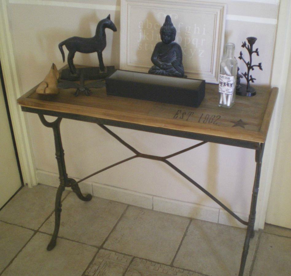 Console home made atelier scaramouche - Pochoir style industriel ...
