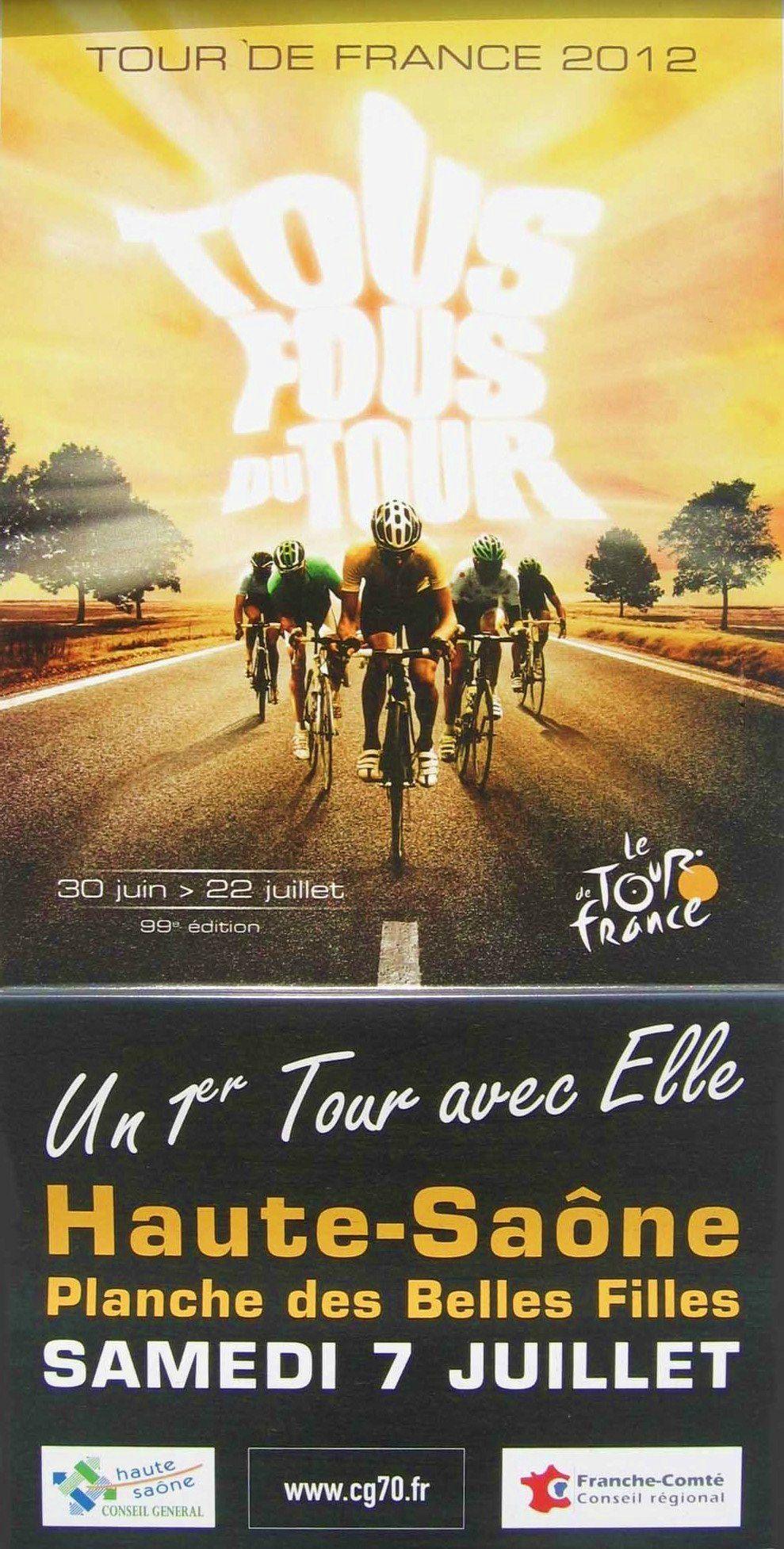 Tour de France 2012 : Arrivée à la Planche des Belles Filles (commune de Plancher-les-Mines)