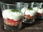 Verrines de saumon fumé au tzatziki