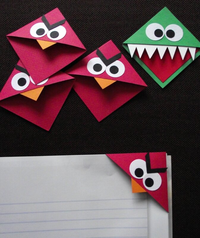 monstres angry birds et autres marque pages le scrap de michelle. Black Bedroom Furniture Sets. Home Design Ideas