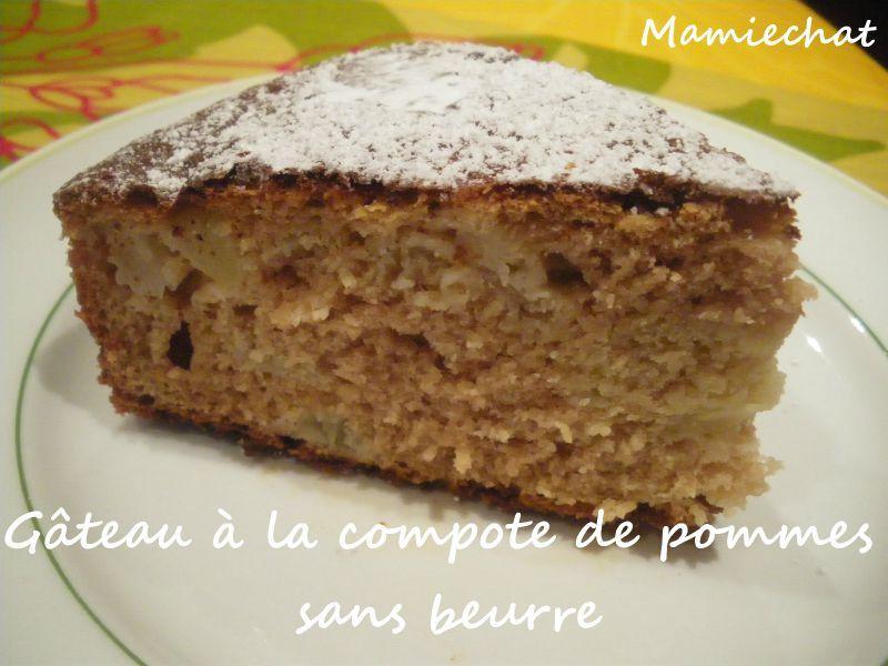 gâteau à la compote de pommes sans beurre - le blog de chantal76