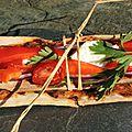 Petites pizzas comme en sandwiches pour une remontée de l'aulne canalisé à bord de korriganez...