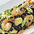 Salade de riz défendu aux crevettes de caroline dumas