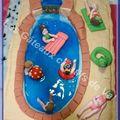 gâteau piscine