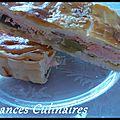 Tourte aux poireaux et saumon frais