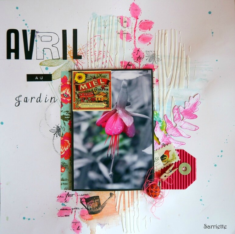 Challenge mois d'avril Scrapsisters -Page